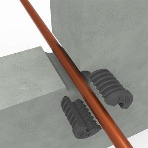 PSI plug montage in betonnen wand