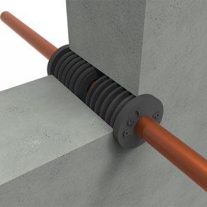 PSI plug dubbel in betonnen wand
